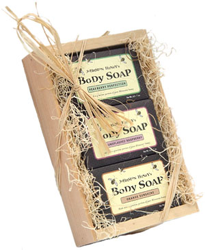Fruit Soap Gift Set ...  sc 1 st  Johnston Honey & Fruit Soap Gift Set (Pearberry Raspberry Orange package of 3 bars ...